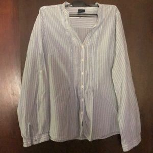 Casual Faded glory pinstripe cotton top